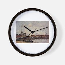 Eugene Boudin - Dunkirk, the Inner Port Wall Clock