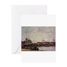 Eugene Boudin - Dunkirk, the Inner Greeting Cards