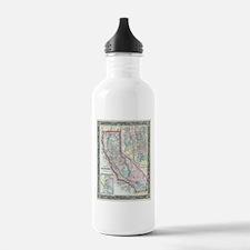 Vintage Map of Califor Water Bottle