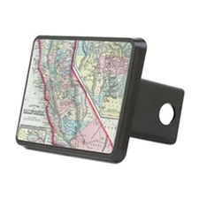 Vintage Map of California Hitch Cover