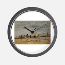 Eugene Boudin - Deauville, the Jetty Wall Clock