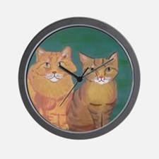 Unique Brown tabby Wall Clock