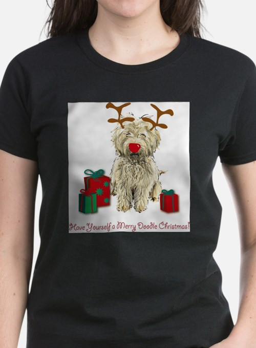 Cute Goldendoodle christmas Tee