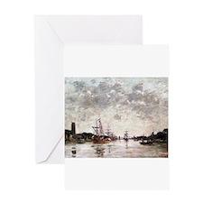 Eugene Boudin - Dordrecht, La Meuse Greeting Cards