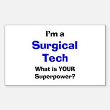 surgical tech Sticker (Rectangle)