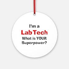 lab tech Ornament (Round)