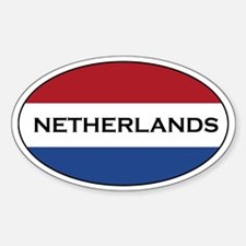 Netherlands stickers Oval Stickers