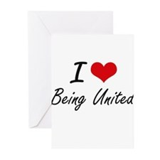 I love Being United Artistic Design Greeting Cards