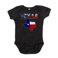 Cute State texas flag Baby Bodysuit