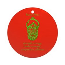 Mars Red Background Ornament (Round)