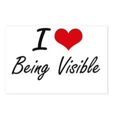 I love Being Visible Arti Postcards (Package of 8)