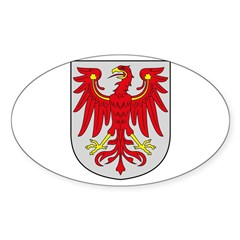 Brandenburg Coat of Arms Oval Decal