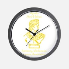 Sol Orange Wall Clock