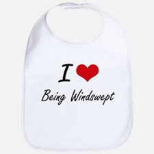 I love Being Windswept Artistic Design Bib