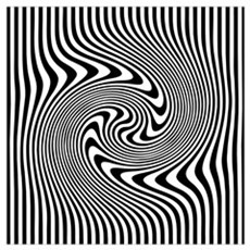 Black and White Op Art Twirl Canvas Art
