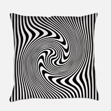 Black and White Op Art Twirl Everyday Pillow