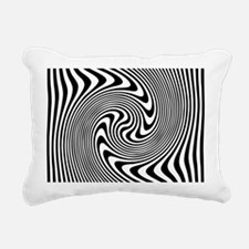 Black and White Op Art T Rectangular Canvas Pillow