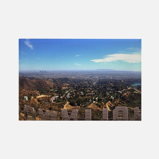 Hollywood Sign Rectangle Magnet