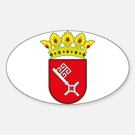 Bremen Coat of Arms Oval Decal