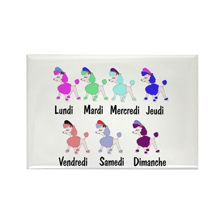 French Poodle Days Rectangle Magnet (100 pack)