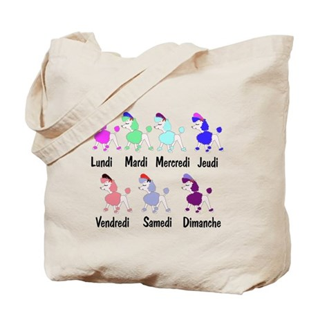 French Poodle Days Tote Bag