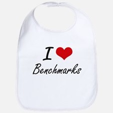 I Love Benchmarks Artistic Design Bib