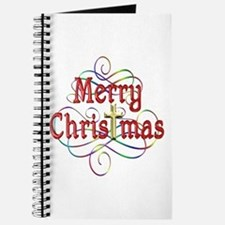 Merry Christmas Cross and Swirls Journal