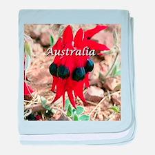 Sturt's Desert Pea, Australia (captio baby blanket