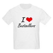 I Love Bestsellers Artistic Design T-Shirt