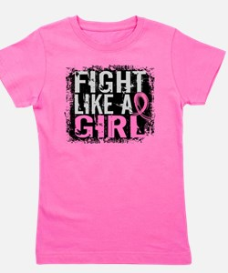 Cute Breast cancer awareness month Girl's Tee
