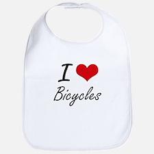 I Love Bicycles Artistic Design Bib