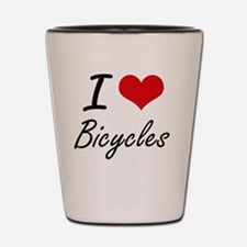 I Love Bicycles Artistic Design Shot Glass