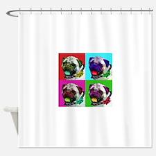Warhol's Pug Shower Curtain