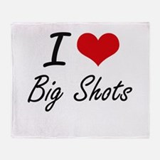 I Love Big Shots Artistic Design Throw Blanket