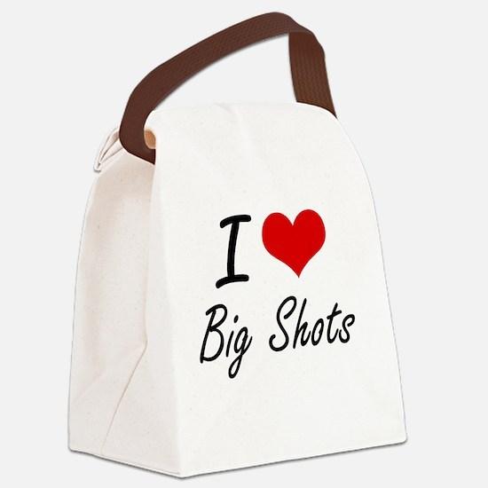 I Love Big Shots Artistic Design Canvas Lunch Bag