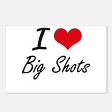 I Love Big Shots Artistic Postcards (Package of 8)