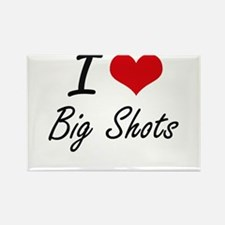 I Love Big Shots Artistic Design Magnets