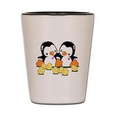 Penguin & Chicks Shot Glass