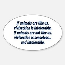 If animals are like us - Sticker (Oval)