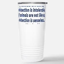If animals are like us Stainless Steel Travel Mug