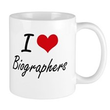 I Love Biographers Artistic Design Mugs