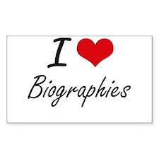 I Love Biographies Artistic Design Decal