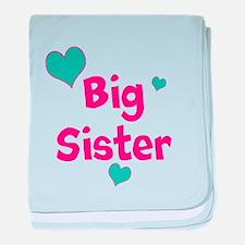 Big Sister (hearts) baby blanket