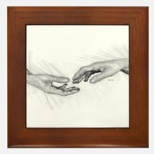 Hold My Hand Framed Tile