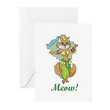 Belly Dancing Cat Greeting Cards (Pk of 20)
