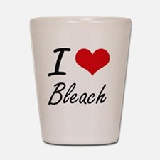 I Love Bleach Artistic Design Shot Glass