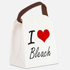 I Love Bleach Artistic Design Canvas Lunch Bag