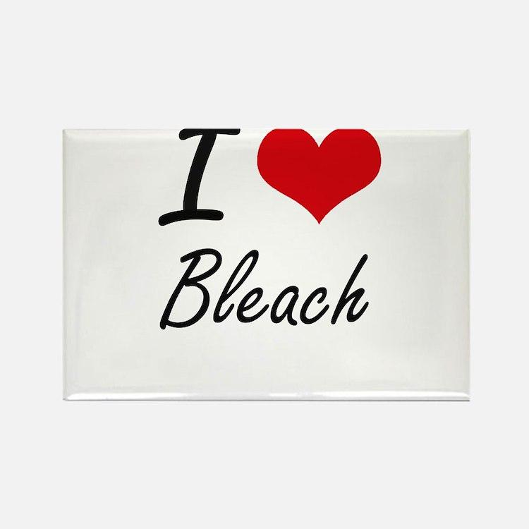 I Love Bleach Artistic Design Magnets