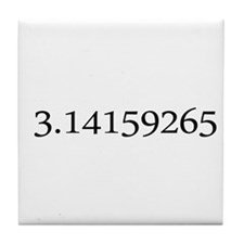 Number pi Tile Coaster