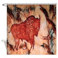 Bison Petroglyph Shower Curtain